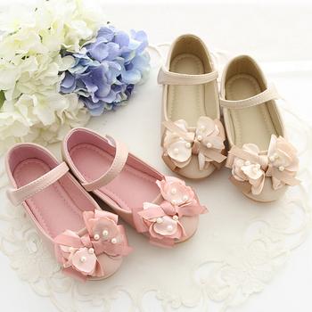 fashion soft girls flat dress baby party kids dance shoes kids flower girl  shoe girls dressy