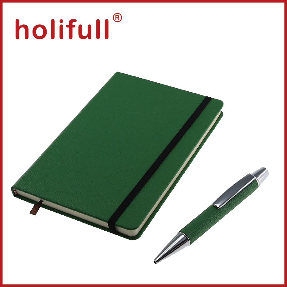2016 import export new innovative business ideas plain color pu leather notebook pen set