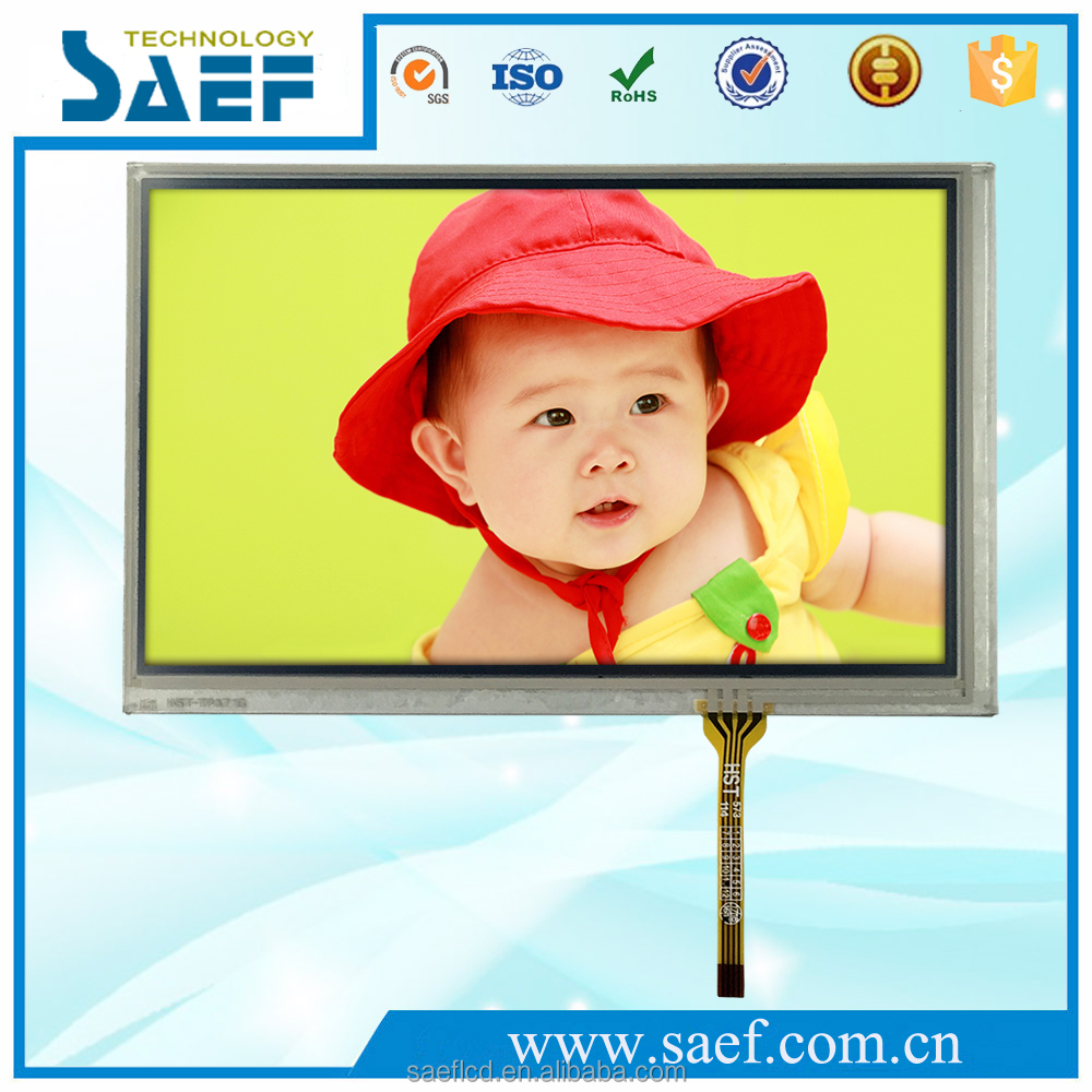 7 inch tft lcd panel 40 pin with control board WVGA 800x480 dots with Resistive touchscreen