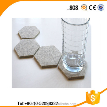 2017 Laser Cut Felt Grey Snowflake Drink Coaster For Christmas Table  Decoration Made In China