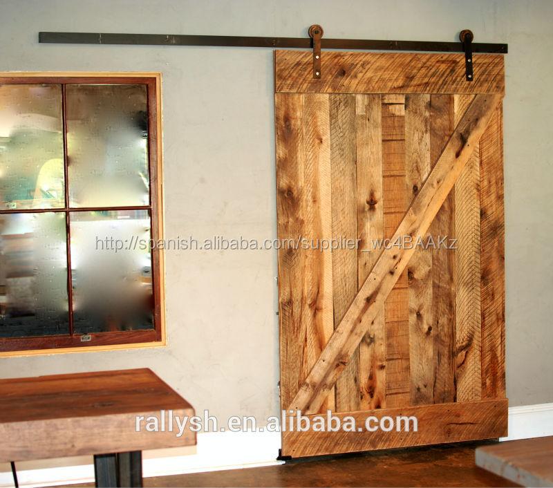 Surtido de estilo granero deslizante set hardware puerta for Puertas correderas de granero precio