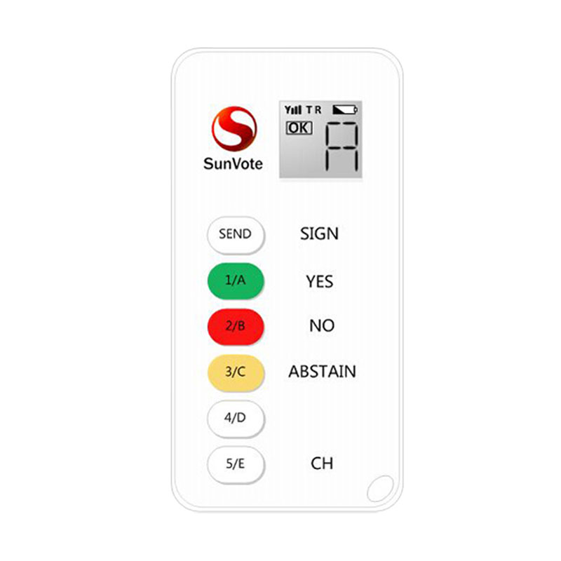 Audience voting keypad & system