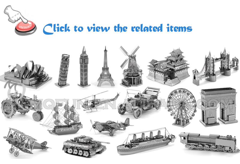 OVER 200 MODEL PIECE FUN Mini Qute 3D laser cut models Metal Puzzle military vehicle Adult DIY assemble model educational toy