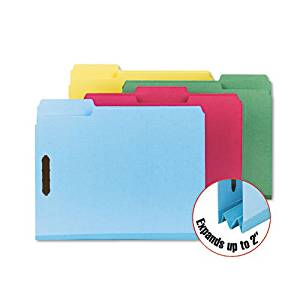Smead : Colored Pressboard Fastener Folders, Letter, 1/3 Cut, Blue, 25/Box -:- Sold as 2 Packs of - 25 - / - Total of 50 Each