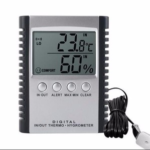 Indoor / Outdoor Digital Thermometer Hygrometer Home Weather Station With Comfort Zone