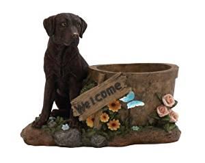 Benzara Beautiful Styled Polystone Dog Planter by Benzara
