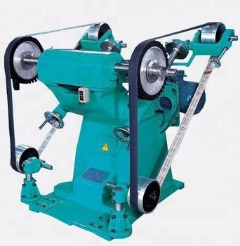 Two wheels abrasive belt brass metal grinding polishing machine