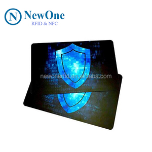 High Security Credit Card Protector rfid micro-chipped blocking card to Block RFID / NFC Signals from Wallets and Passports