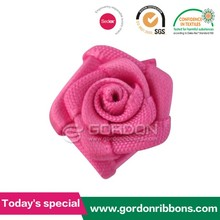 Polyester rose ribbon rosette ribbon bow for sock