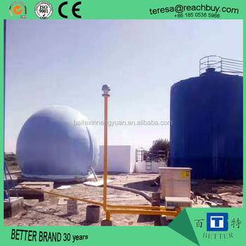 Anaerobic fermentation biogas storage system for biogas digester
