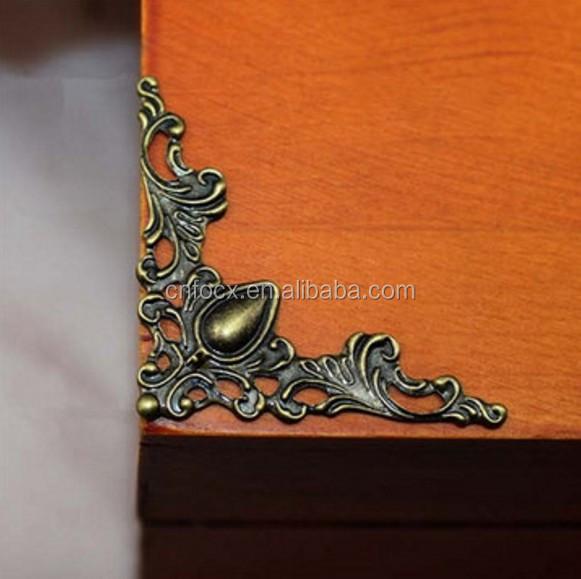 Classic Jewelry Box Gift Case Book Scrapbook Album Corner Decorative Protector
