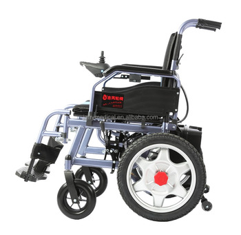 Foldable and portable electric wheelchair