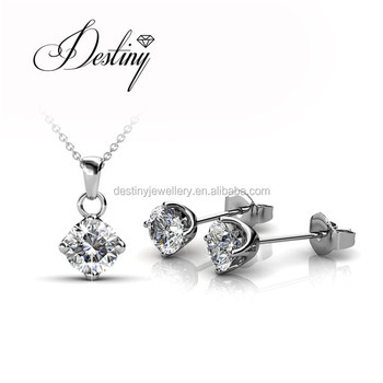 e614bea27 Destiny Jewellery Factory Supply charm earrings pendant imitation jewelry  set made with Crystal from swarovski