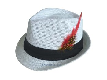 Fashion Fedora Hat With Cotton Twill Belt And Feather Decoration ... 89f5e114903