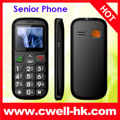 PS-V704 1.77 inch TFT Screen GSM Quad Band Dual SIM FM Radio Torch SOS Buttons Old Man Mobile Phone