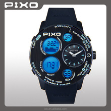 PX-18 Factory award winning Low MOQ stainless steel black blue altimeter barometer thermometer sensor men relojes watches