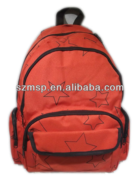 Trendy shoulder strap Polyester 600 Denier day Screen printing Backpack