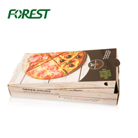 custom round corrugated pizza packing box design