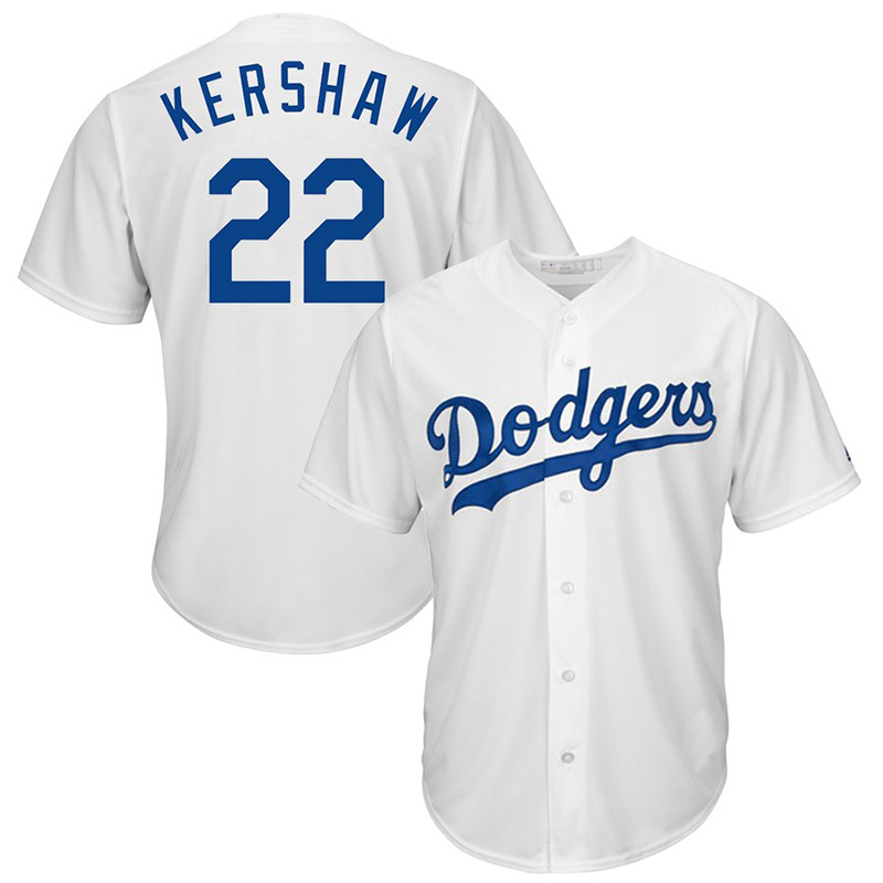 Los Angeles Dodgers 22 Clayton Kershaw 5 Corey Seager 35 Cody Bellinger Borduren Logos honkbal jersey