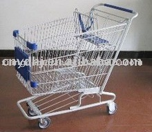 198L American style supermarket shopping cart with AD sign holder