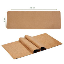 2017 New Design China Factory Branded Eco-friendly Natural Cork Yoga Mat OEM