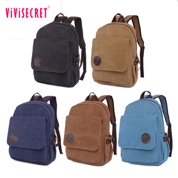 Eco Friendly Black College Trendy Korea Day Backpack Canvas School Bags Wholesale Unique Bookbag