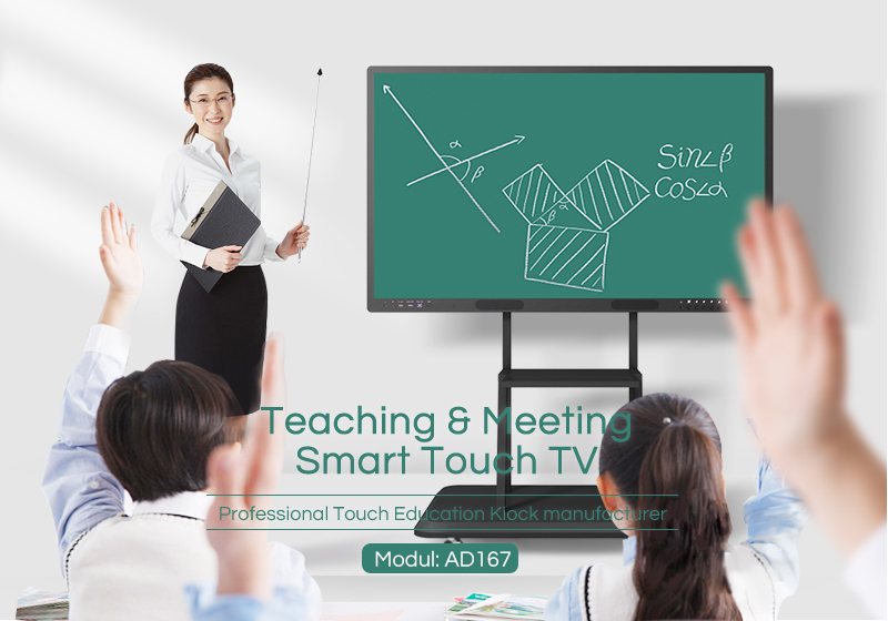 wall mounted lcd interactive smart meeting office white board for teaching