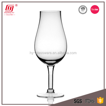 Hot Sale Cheap Tall Tulip Shape Wine Glass Vase For Wedding