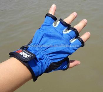 Outdoor sport skidproof resistant fingerless fishing glove for Fingerless fishing gloves