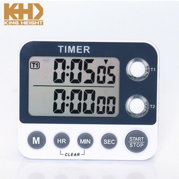 KH-TM039 KING HEIGHT Thin Light 2 Respective Setting Electronic Timer with LCD Display
