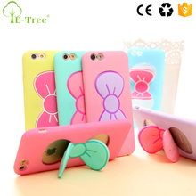 Shockproof Cute Silicone Phone Case For iPhone 6 / 6S With Hidden Kickstand