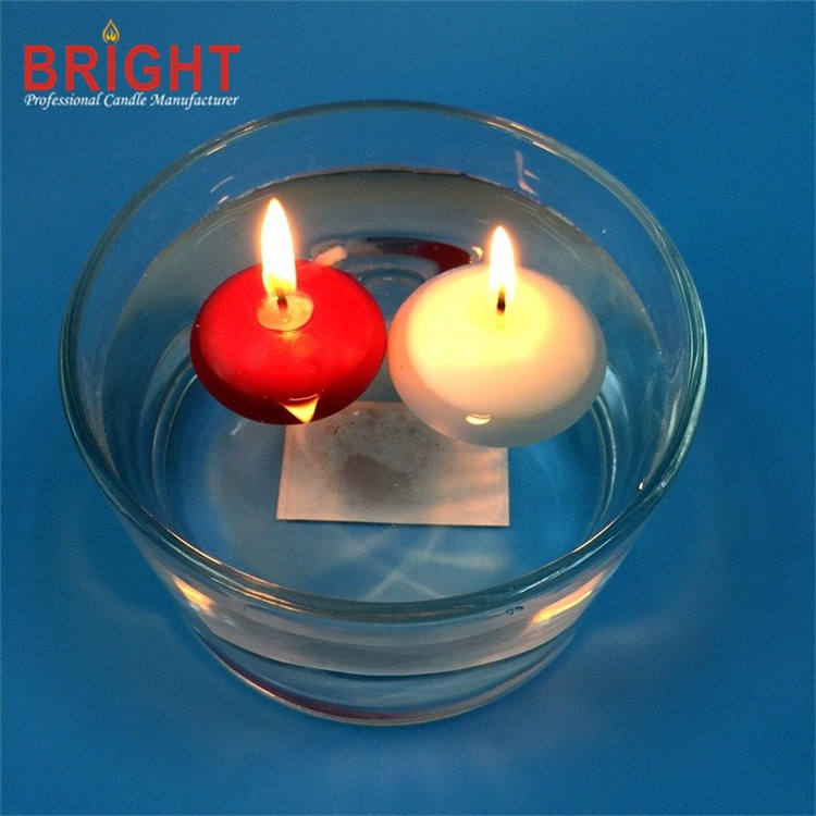 Unscented Colored Red 4.5h Floating Candles