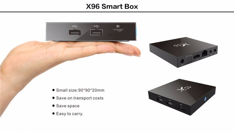 Latest OS android 6.0 octa core tv stick box mini pc X96 amlogic S905X 2/16gb or 1/8gb smart tv x96 android tv box