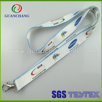 custom buyer label ski pass holder with polyester lanyard