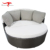 Garden Furniture Lounge Round Outdoor White Rattan Sofa Set