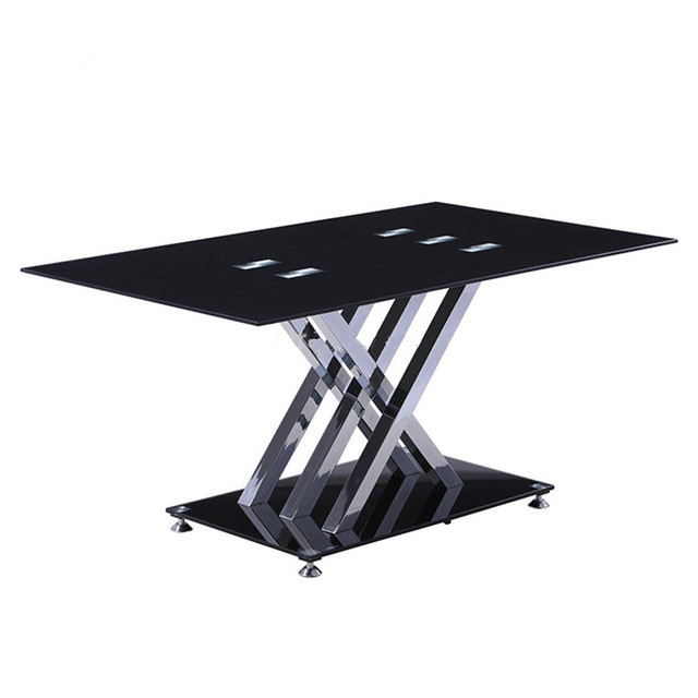 6 seater tempered glass dining table