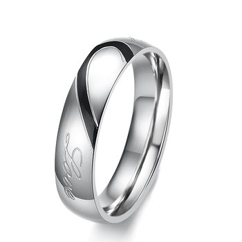 personalized matching couples cincin titanium promise wedding rings