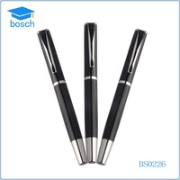 Mens gifts metal engraved pens with logo print metal pen clip design