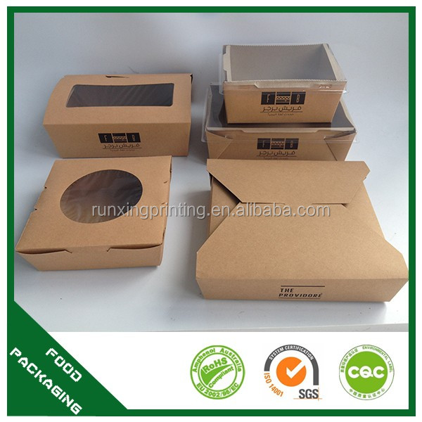 Restaurant folding take away food container box