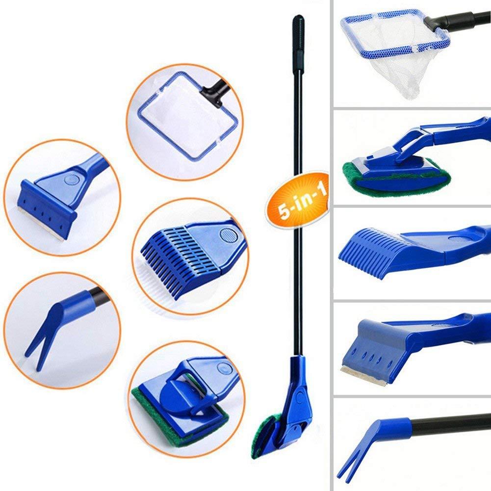 1 Set Fish Net Algae Scraper Sponge Brush Spoon Net Gravel Rake For Garden Home Traveling Cleaning & Maintenance