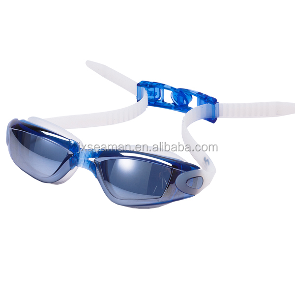 new design Anti Fog UV Triathlon Swim Goggles with buckle on straps for all ages