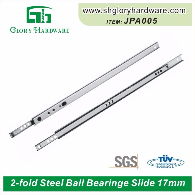 Hot sale 27 mm ball bearing drawer slides telescopic channel plastic furniture drawer slides