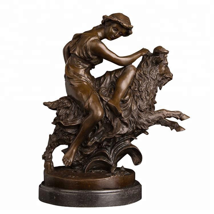 Artshom DW-167 Neushoorn Hoofd Sculptuur Real Brons Wild Dier Buste Standbeeld Western Art Neushoorn Beeldje Voor Huis Decor