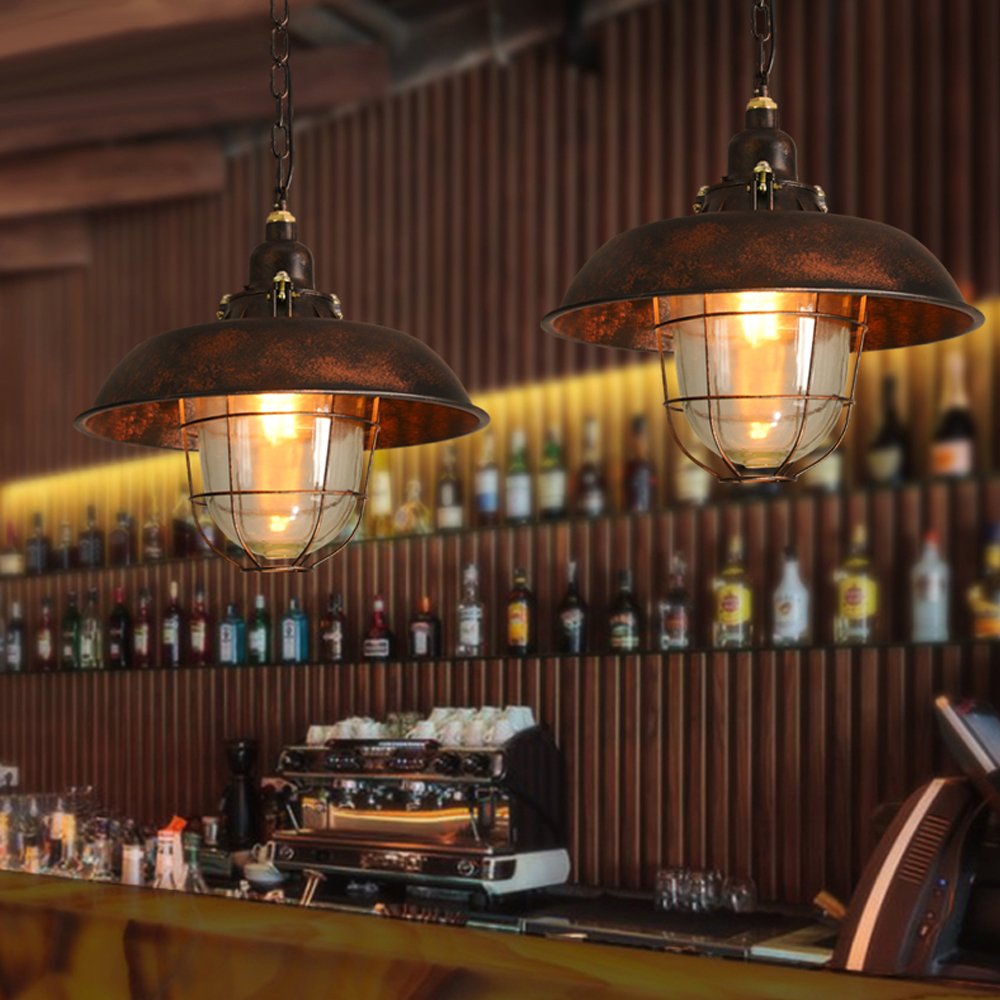 2016 vintage retro lamp industri le edison hanglamp licht roest kleur kroonluchter met - Licht industriele vintage ...