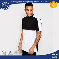 Guangzhou Short Sleeve Plain Cheap Men Cotton Custom Black White Two Colours T Shirt Bulk