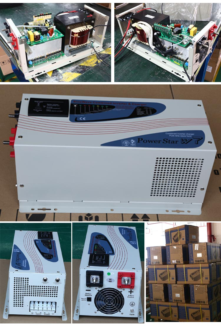 12v 24v 48v 220vDc/220VAC off grid solar3000w 3kw high/low frequency inverter without MPPT inverter
