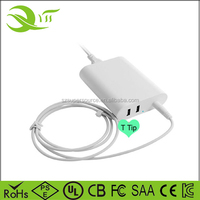 60W ac adaptor laptop charger 16.5V 3.65A power adapter with 2 USB for mac pro 13