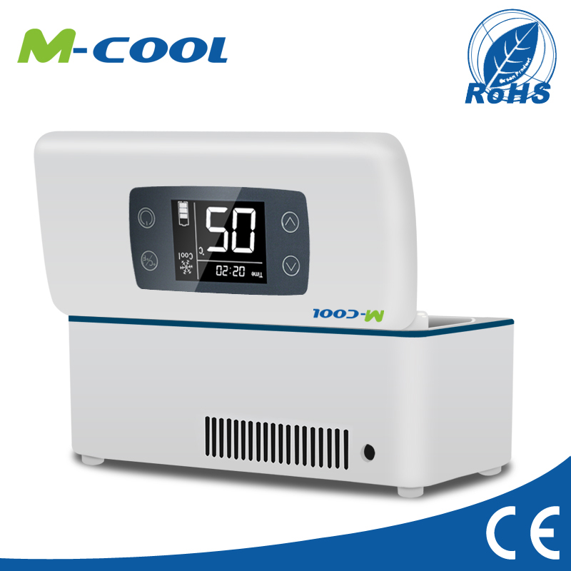 M-COOL Hot sale mini freezer 12v for diabetes cooler carrying case travel car smart mini fridge led display insulin <strong>refrigerator</strong>