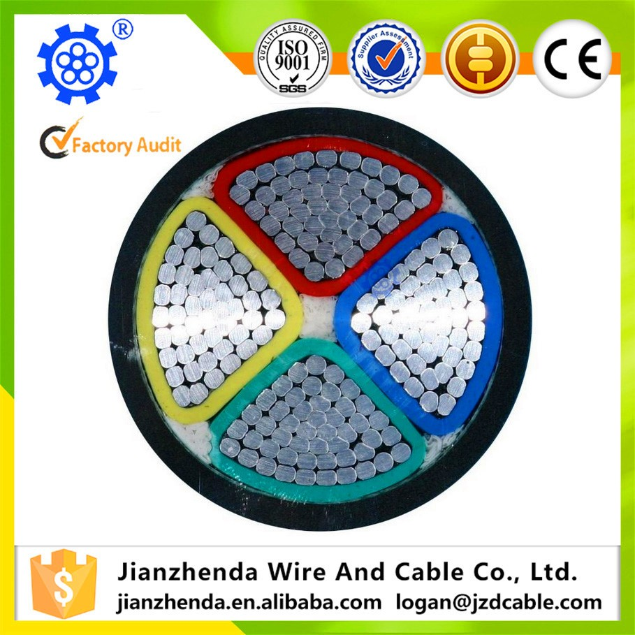 4 Core Pvc Insulated Aluminum Conductor Power Cable - Buy Aluminum ...