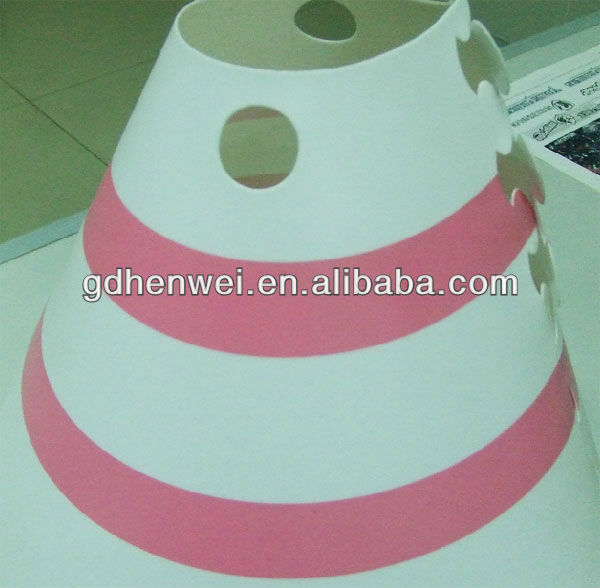 offset print lampshade made by PP material